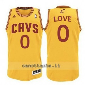 Canotta kevin love #0 cleveland cavaliers revolution 30 giallo