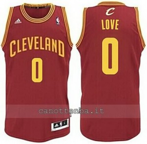 Canotta kevin love #0 cleveland cavaliers revolution 30 rosso