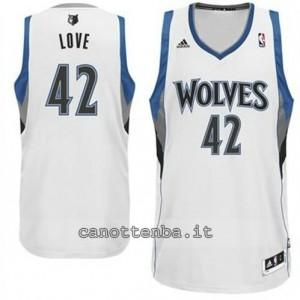 Canotta kevin love #42 minnesota timberwolves revolution 30 bianca