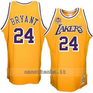 Canotta kobe bryant #24 los angeles lakers showtime giallo