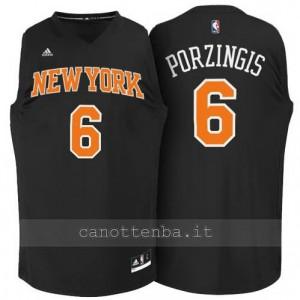 Canotta kristaps porzingis #6 new york knicks moda nero