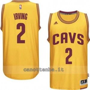 Canotta kyrie irving #2 cleveland cavaliers 2014-2015 giallo