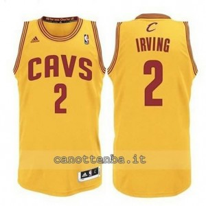 Canotta kyrie irving #2 cleveland cavaliers revolution 30 giallo