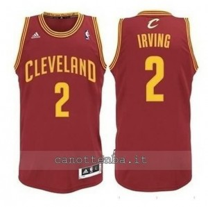 Canotta kyrie irving #2 cleveland cavaliers revolution 30 rosso