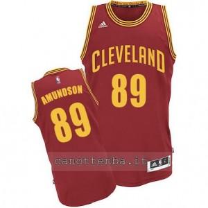 Canotta lou amundson #89 cleveland cavaliers revolution 30 rosso