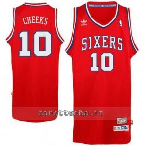 Canotta maurice cheeks #10 philadelphia 76ers classico rosso
