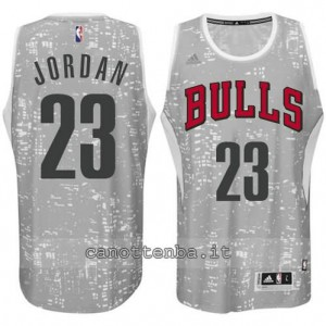 Canotta michael jordan #23 chicago bulls lights grigio