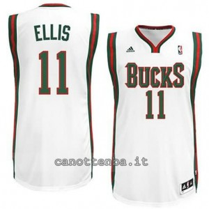 Canotta monta ellis #11 milwaukee bucks revolution 30 bianca