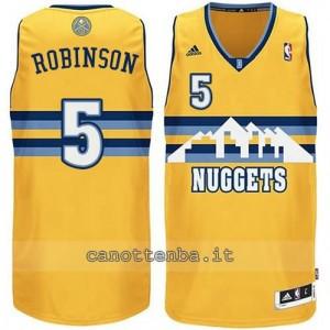 Canotta nate robinson #5 denver nuggets revolution 30 giallo