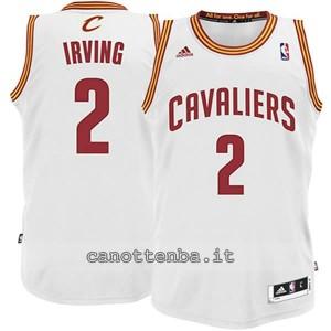 canotta basket bambino cleveland cavaliers kyrie irving #2 bianca
