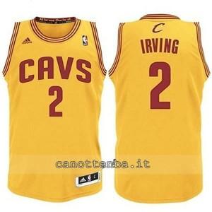 canotta basket bambino cleveland cavaliers kyrie irving #2 giallo