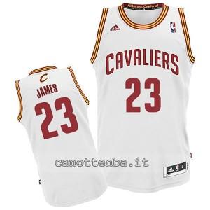 canotta basket bambino cleveland cavaliers lebron james #23 bianca