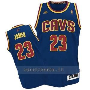 canotta basket bambino cleveland cavaliers lebron james #23 blu
