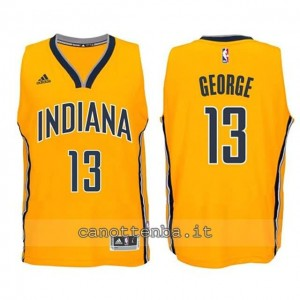 canotta basket bambino indiana pacers paul george #13 giallo