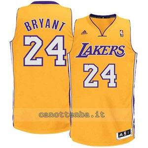 canotta basket bambino los angeles lakers kobe bryant #24 giallo