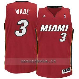 canotta basket bambino miami heat dwyane wade #3 rosso