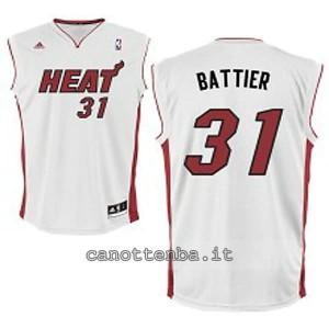 canotta basket bambino miami heat shane battier #31 bianca