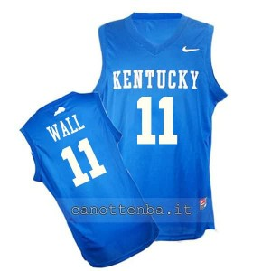 Canotta ncaa kentucky wildcats john wall #11 blu