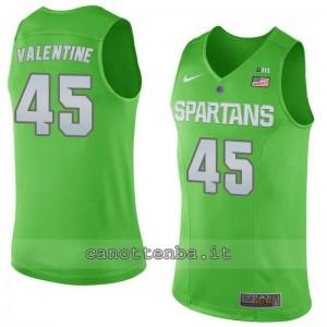 Canotta ncaa michigan state spartans denzel valentine #4#5 verde