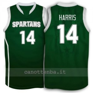 Canotta ncaa michigan state spartans gary harris #14 verde
