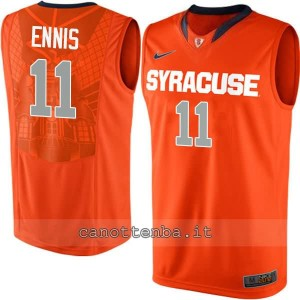 Canotta ncaa syracuse orange tyler ennis #11 arancia