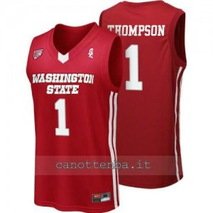 Canotta ncaa washington state cougars klay thompson #1 rosso