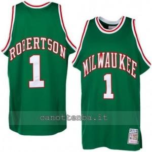 Canotta oscar robertson #1 milwaukee bucks verde