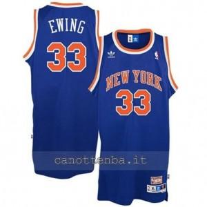Canotta patrick ewing #33 new york knicks classico blu