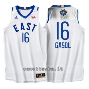 Canotta pau gasol #16 nba all star 2016 bianca