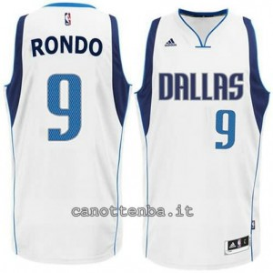 Canotta rajon rondo #9 dallas mavericks bianca