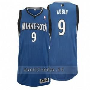 Canotta ricky rubio #9 minnesota timberwolves revolution 30 blu