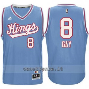 Canotta rudy gay #8 sacramento kings 198#5-1986 retro