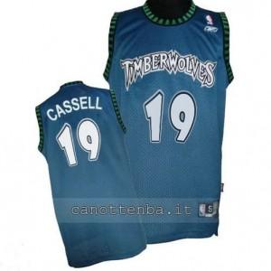 Canotta sam cassell #19 minnesota timberwolves retro blu