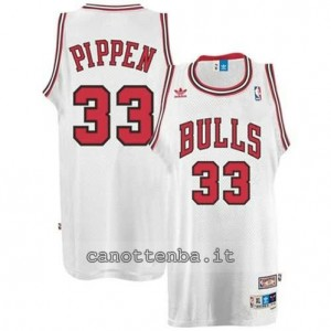 Canotta scottie pippen #33 chicago bulls retro bianca