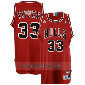Canotta scottie pippen #33 chicago bulls retro rosso