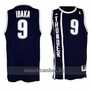 Canotta serge ibaka #9 oklahoma city thunder alternato blu