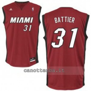 Canotta shane battier #31 miami heat revolution 30 rosso