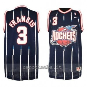 Canotta steve francis #3 houston rockets retro blu