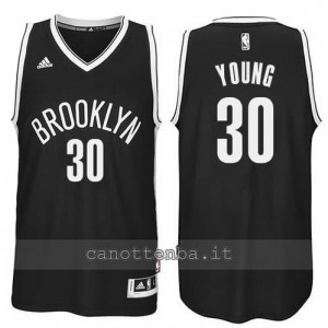 Canotta thaddeus young #30 brooklyn nets revolution 30 nero
