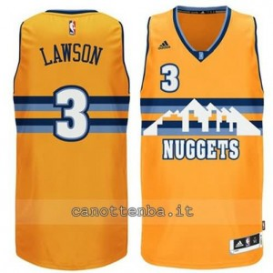 Canotta ty lawson #3 denver nuggets 2014-2015 giallo