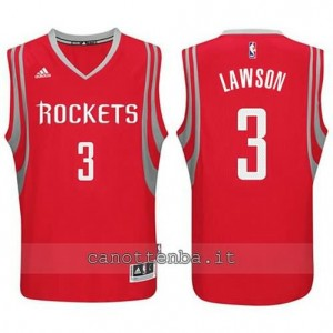 Canotta ty lawson #3 houston rockets 2014-2015 rosso