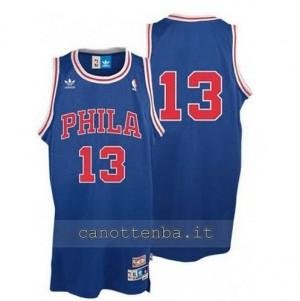 Canotta wilt chamberlain #13 philadelphia 76ers soul blu
