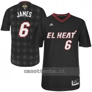 Canotta LeBron james #6 miami heat nero