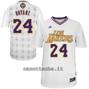 Canotta kobe bryant #24 los angeles lakers natale 2014 bianca