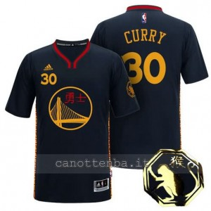 Canotta stephen curry #30 golden state warriors cinese 2016 nero