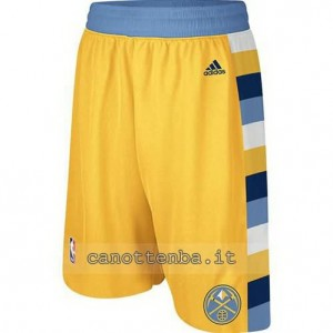 pantaloncini nba denver nuggets revolution 30 giallo